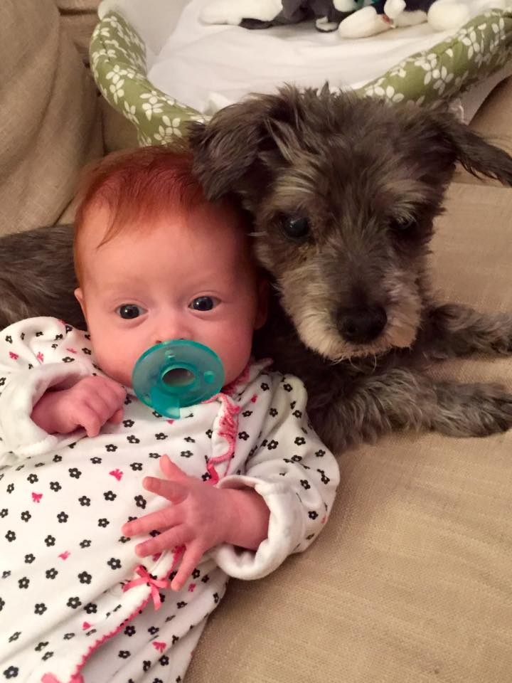 Nora and her pup, Sasha.